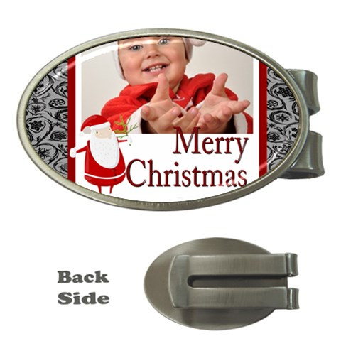 Merry Christmas, Happy New Year, Season By Man   Money Clip (oval)   U7zfr1of1y40   Www Artscow Com Front