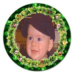 Christmas Wreath magnet - Magnet 5  (Round)
