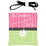 My grandchildren light up my life shoulder sling - Shoulder Sling Bag