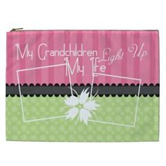 My Grandchildren Light Up My Life Xxl Cosmetic By Digitalkeepsakes   Cosmetic Bag (xxl)   Z6qmsze02a21   Www Artscow Com Front