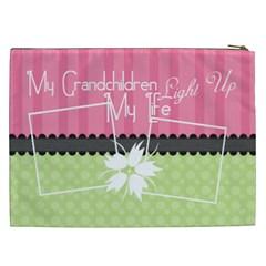 My Grandchildren Light Up My Life Xxl Cosmetic By Digitalkeepsakes   Cosmetic Bag (xxl)   Z6qmsze02a21   Www Artscow Com Back