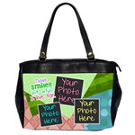 These smiles are what I live for office bag - Oversize Office Handbag (2 Sides)