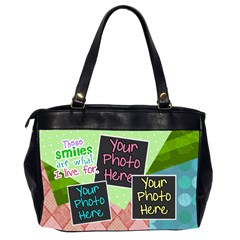 These Smiles Are What I Live For Office Bag By Digitalkeepsakes   Oversize Office Handbag (2 Sides)   07tygpo1dg9v   Www Artscow Com Back