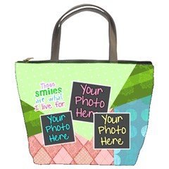 These Smiles Are What I Live For Bucket Bag By Digitalkeepsakes   Bucket Bag   P3kg84q2jb3g   Www Artscow Com Front
