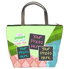 These Smiles Are What I Live For Bucket Bag By Digitalkeepsakes   Bucket Bag   P3kg84q2jb3g   Www Artscow Com Back