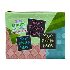 These Smiles Are What I Live For Xl Cosmetic By Digitalkeepsakes   Cosmetic Bag (xl)   Dtbgsri5jgaj   Www Artscow Com Front
