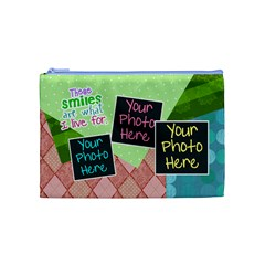These Smiles Are What I Live For Medium Cosmetic By Digitalkeepsakes   Cosmetic Bag (medium)   Z0jk1vy7lf17   Www Artscow Com Front