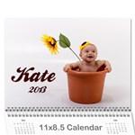 kate calendar - Wall Calendar 11  x 8.5  (12-Months)