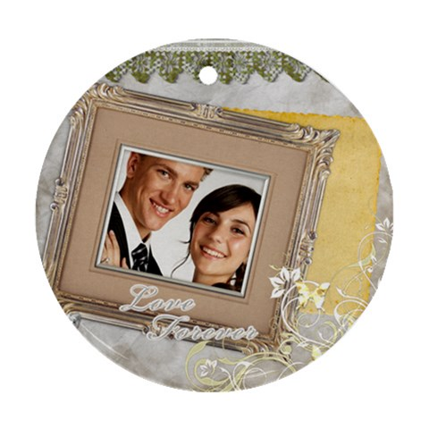 Wedding By Paula Green   Ornament (round)   Bzmr1cyuv8at   Www Artscow Com Front