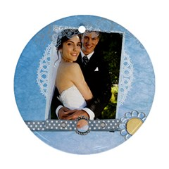 Wedding By Paula Green   Round Ornament (two Sides)   3o7t8f2awc0w   Www Artscow Com Back