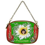 Red and green Princess Chain purse one side - Chain Purse (One Side)