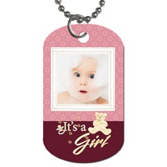 Baby Girl By Joanne5   Dog Tag (two Sides)   Lwazzvhk71q7   Www Artscow Com Back