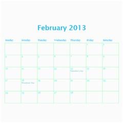 Calendar By Estee   Wall Calendar 11  X 8 5  (18 Months)   Dbio8bm9tsoj   Www Artscow Com Feb 2013