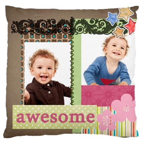 Flower Kids By Jo Jo   Large Cushion Case (one Side)   Regl6zkkm4dt   Www Artscow Com Front