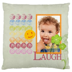 Flower Kids By Jo Jo   Large Cushion Case (two Sides)   94bzm8by73fm   Www Artscow Com Back
