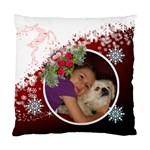 Red and white snowflake pillow case 2 sides - Standard Cushion Case (Two Sides)