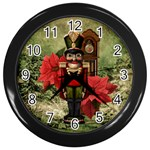 Christmas Clock - Wall Clock (Black)