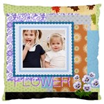 flower kids - Large Cushion Case (One Side)