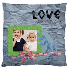 Flower Kids By Joely   Large Cushion Case (two Sides)   2c2t8t84r307   Www Artscow Com Front