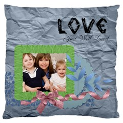 Flower Kids By Joely   Large Cushion Case (two Sides)   2c2t8t84r307   Www Artscow Com Back