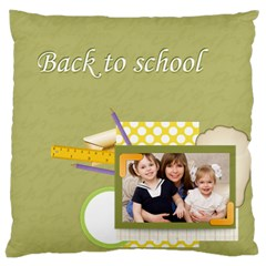 Flower Kids By Joely   Large Cushion Case (two Sides)   Cogzcmr0l4tc   Www Artscow Com Back