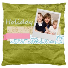 Flower Kids By Joely   Large Cushion Case (two Sides)   Jxwztxgt95ey   Www Artscow Com Back