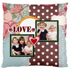 Flower Kids By Joely   Large Cushion Case (two Sides)   A4tx22ym619g   Www Artscow Com Back