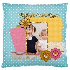 Flower Kids By Joely   Large Cushion Case (two Sides)   2w3q6uzybp2y   Www Artscow Com Front