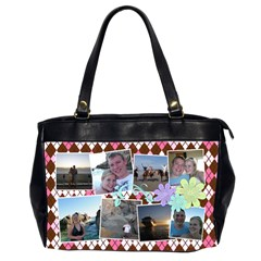 Argyle Flower Office Handbag 2 Sides By Digitalkeepsakes   Oversize Office Handbag (2 Sides)   Cl8cyc5gasit   Www Artscow Com Front