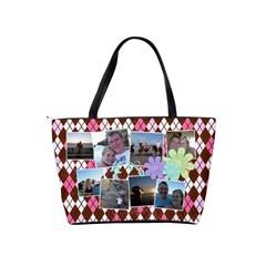 Argyle Flower Shoulder Handbag By Digitalkeepsakes   Classic Shoulder Handbag   Ej55urw3x3ys   Www Artscow Com Back