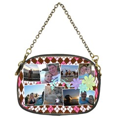 Argyle Flower Chain Purse 2 Sides By Digitalkeepsakes   Chain Purse (two Sides)   Qk8jsjgaji5a   Www Artscow Com Front