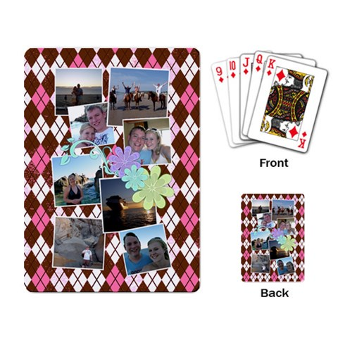 Flower Argyle Playing Cards By Digitalkeepsakes   Playing Cards Single Design   Ufazqvrf14x7   Www Artscow Com Back