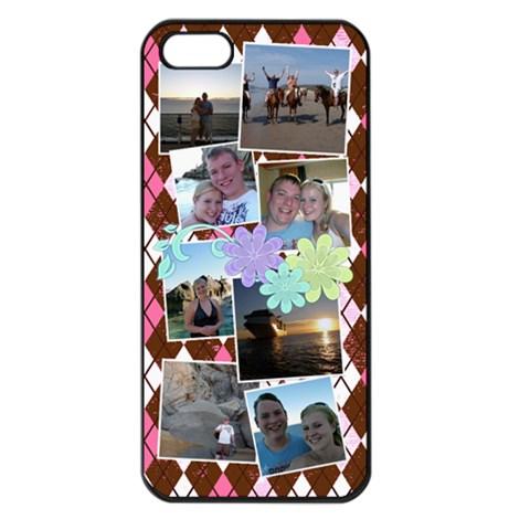 Flower Argyle By Digitalkeepsakes   Apple Iphone 5 Seamless Case (black)   545ea9ielqwo   Www Artscow Com Front