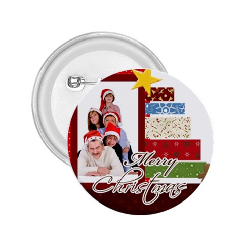Merry Christmas By Betty   2 25  Button   91ihtdl8v057   Www Artscow Com Front