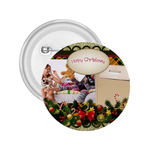 Merry Christmas By Betty   2 25  Button   P796i0lc5vo7   Www Artscow Com Front