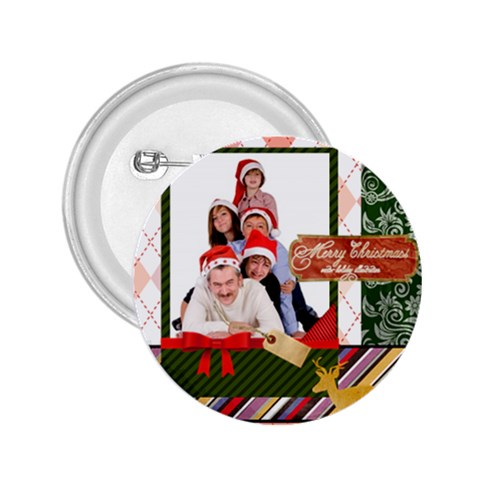 Merry Christmas By Betty   2 25  Button   I3ahgx29w9cf   Www Artscow Com Front