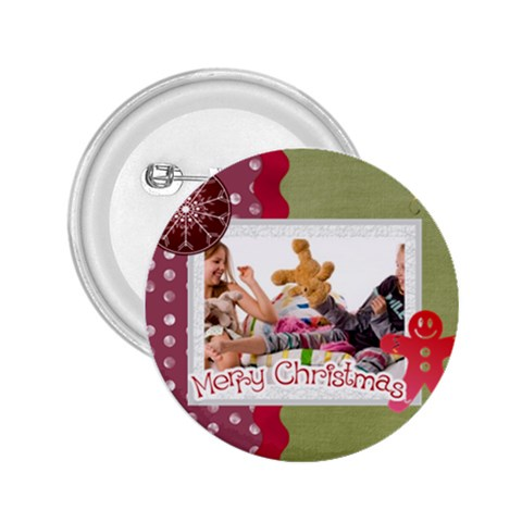 Merry Christmas By Betty   2 25  Button   Oeiw9m0j2jh4   Www Artscow Com Front