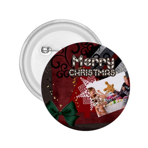 Merry Christmas By Betty   2 25  Button   Emhbhmrqz6mj   Www Artscow Com Front