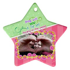 Being With You   Star Ornament 2 Sides By Digitalkeepsakes   Star Ornament (two Sides)   3j8j6uip8j3t   Www Artscow Com Back