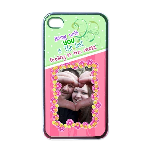 Being With You  Iphone 4/4s Case By Digitalkeepsakes   Apple Iphone 4 Case (black)   Miam6okwaudi   Www Artscow Com Front