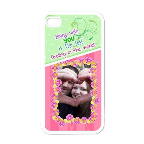 Being With You  Iphone 4/4s Case By Digitalkeepsakes   Apple Iphone 4 Case (white)   Vsefmakgzxvy   Www Artscow Com Front