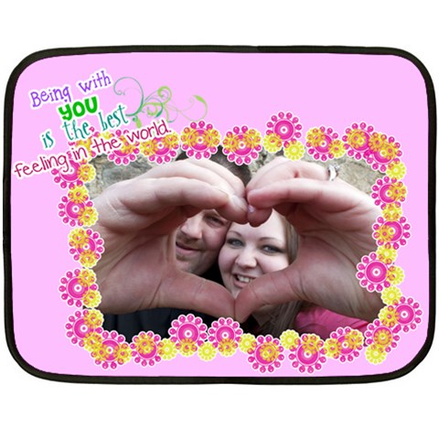 Being With You   Mini Fleece Blanket By Digitalkeepsakes   Fleece Blanket (mini)   P89iun4ttt0i   Www Artscow Com 35 x27 Blanket