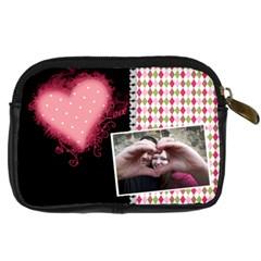 Love   Leather Camera Case By Digitalkeepsakes   Digital Camera Leather Case   919hv3vzzl38   Www Artscow Com Back
