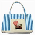 Love - Striped Blue Tote - Striped Blue Tote Bag