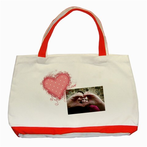 Love   Classic Tote Bag By Digitalkeepsakes   Classic Tote Bag (red)   Nve2gukj5qlv   Www Artscow Com Front