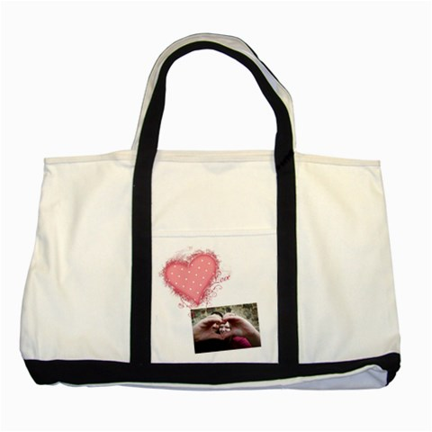 Love   Two Tone Tote Bag By Digitalkeepsakes   Two Tone Tote Bag   499z6d8ozrzg   Www Artscow Com Front