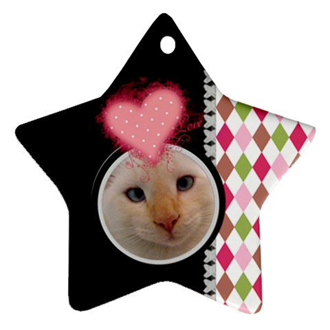 Love   Star Ornament By Digitalkeepsakes   Ornament (star)   4nlj7bxv2m8x   Www Artscow Com Front