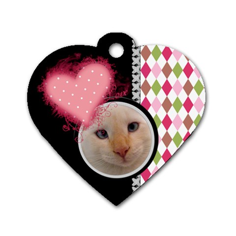 Love   Dog Tag Heart By Digitalkeepsakes   Dog Tag Heart (one Side)   Bx27x20cf3fx   Www Artscow Com Front