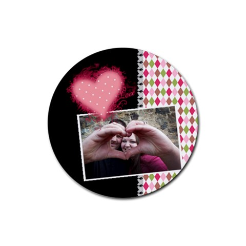 Love   Coasters By Digitalkeepsakes   Rubber Coaster (round)   Uyvwxvs2f1gq   Www Artscow Com Front