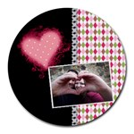 Love - Mousepad - Round Mousepad